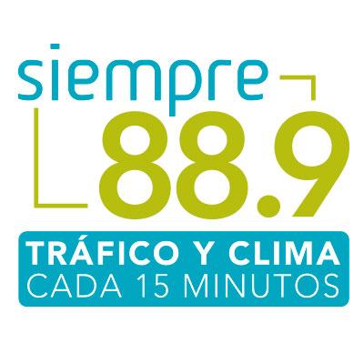 SIEMPRE 88.9 | Player Oficial | Tráfico y Clima Cada 15 Minutos